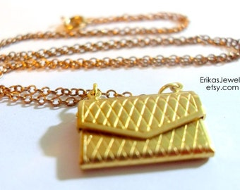 Vintage inspired Purse Necklace