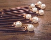 Fancy pearl bobbie pins