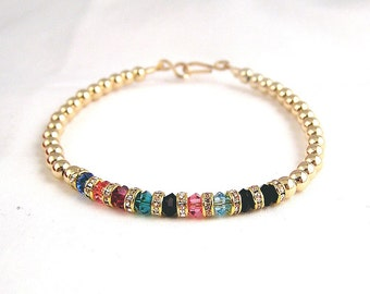 Gold fill Mother's bracelet