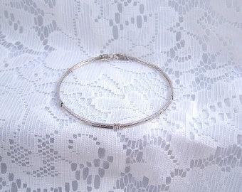 Custom order for indiaria - simple silver bracelet