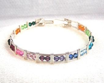 Rainbow's End - silver bracelet