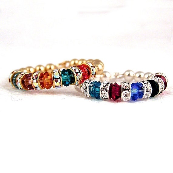 Gold Fill Mother's Birthstone  Ring