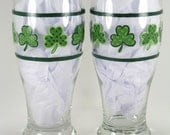 Pattern for Calico Shamrocks St. Patty's Day Beer Glasses - PDF - JB010