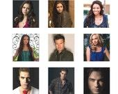 The Vampire Diaries Scrabble tile image sheet