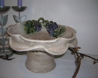Grape Pedestal Dish