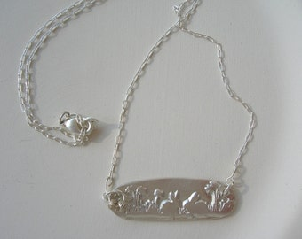 Meet Me On The Bunny Trail Sterling Silver Necklace
