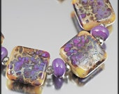 Purple Passion - 15 lampwork beads by Judith Billig
