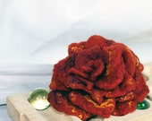 Rose - like autumn  kiss - felted brooch, pin