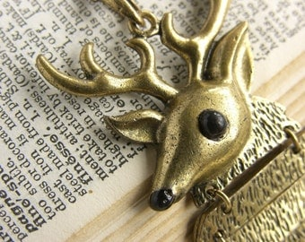 "Large Quirky Stag Fashion Necklace - ""My Deer"""