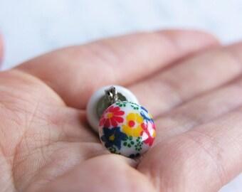 "Colorful Floral Stud / Post Earrings - ""Summer Flowers"""