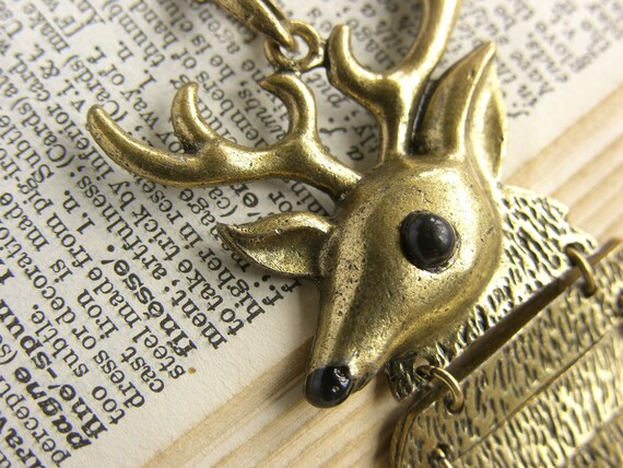 """Large Quirky Stag Fashion Necklace - """"My Deer"""""""