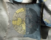 """CELESTIAL Map Pillow Cover Made to Order 12"""" x 12"""""""