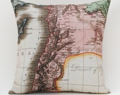 ANCIENT SYRIA Map Pillow, Made to Order 18 x18 Cover