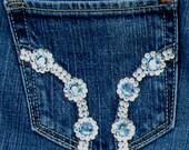 Hollister Cali flare Swarovski crystal jeans 5R Free shipping