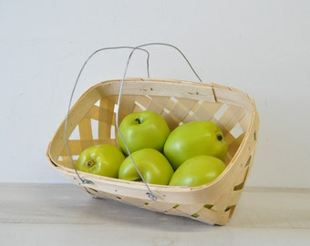 vintage vegetable orchard basket