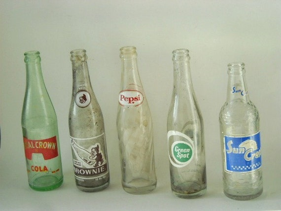 Vintage Instant Collection Soft Drink Bottles