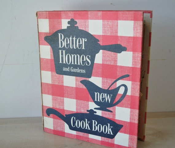 1950s better homes and gardens new cookbook spiral recipe book Better homes and gardens latest recipes