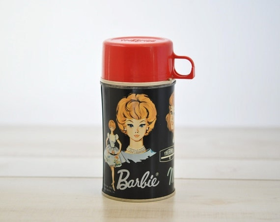 1965 Barbie, Midge, Skipper vintage Thermos--treasury item.