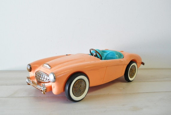 Adorable 1960s vintage Barbie Car -- Mattel Austin-Healey Sports Vehicle --- Collectible
