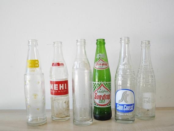 reserved for Vivian--Vintage Instant Collection Soft Drink  Bottles-- recycle, reuse