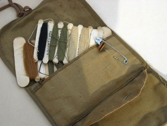 world war ii vintage military sewing kit