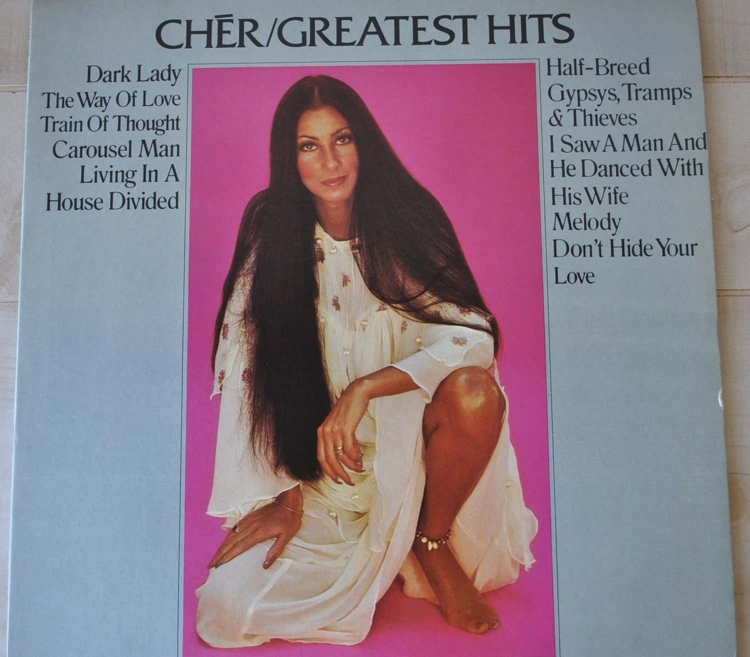 Awesome 1970s Cher Greatest Hits Vinyl Record Album