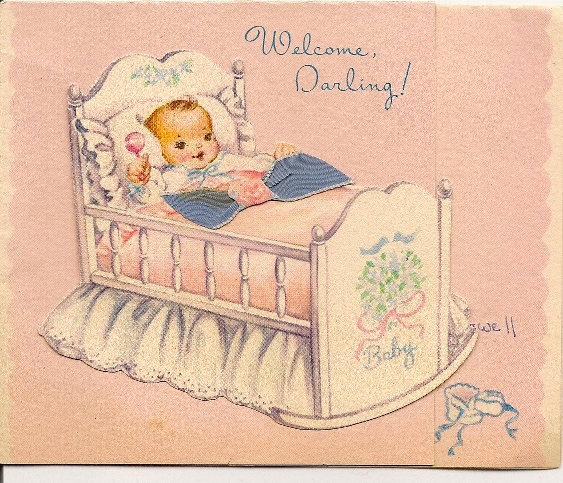 1950 vintage welcome new baby congratulationsmyramelinda