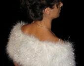 Silver Frost Faux Fur Wrap
