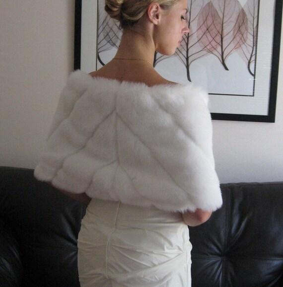 PURE-WHITE Mink Faux Fur Wrap