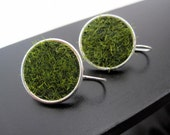 Lush Green Grass SILVER or GOLD Earrings