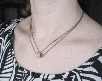Double Chained Cube Necklace