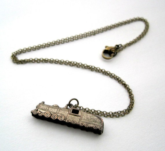 Vintage Train Necklace