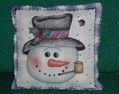 PILLOW--Mr. Snowman