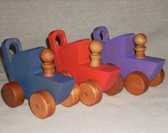 WOOD TOY-Stroller with Peg Person