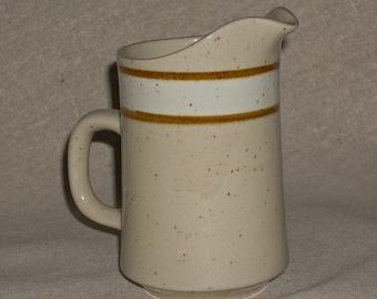 VINTAGE--Rainbow Stoneware Creamer