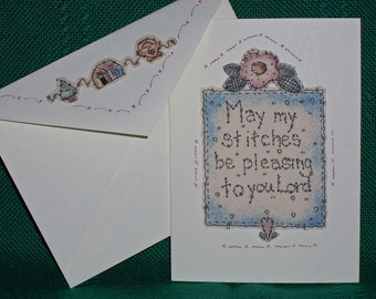 NOTECARDS--Quilting in Fabric Applique-3