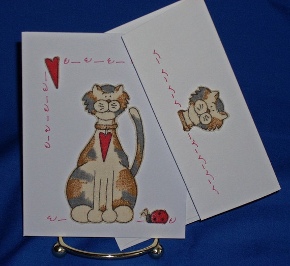 NOTECARDS--Country Cats-3