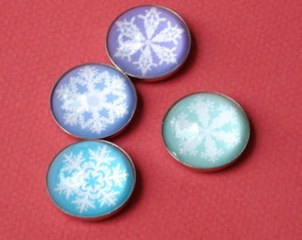 Snowflakes Holiday Magnets