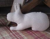Unstuffed Muslin Bunny Ornie Set  of 6 - Unstuffed - Hafair