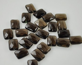25 Smoky Quartz Stones 14x12mm (Smok-003)