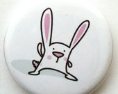 Cute Bunny Pin Back Button