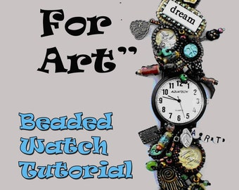 Time For Art Beaded Watch Tutorial
