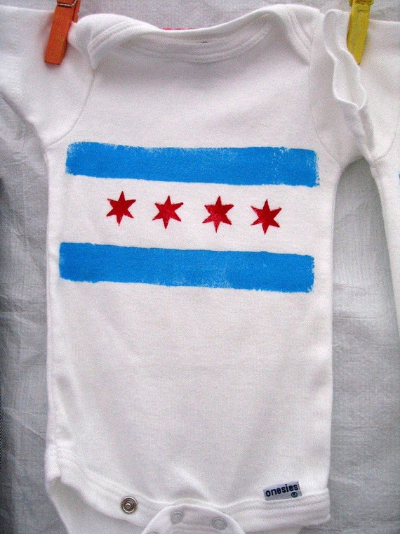Chicago Flag Baby Onesie