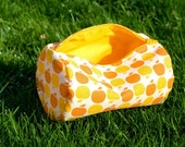 Orange and Yellow Apples Circle Zip Pouch for Makeup Toiletries and More