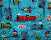 Thomas Train 43x39 Inch Turquoise Crib Play Throw Quilt - 847