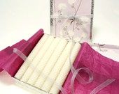 Beeswax Candles White Candle Taper Wedding Candles Gift Set 6 Thin Japanese Candles Zen Candles Pure Beeswax Rolled Candles Asian Inspired