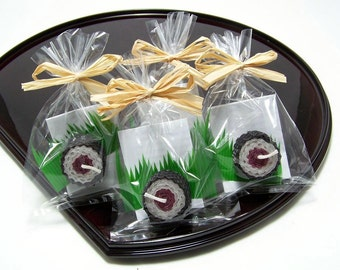 Spam Sushi Favor Candle Plum Mauve Japanese Party Gift Japan Beeswax