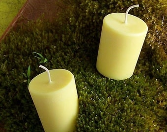 Gardenia Soy Candles 4-12 Yellow Soy Candle Standard or Large Votive Candles Gardenia Fragrance Handmade in Hawaii Scented Candle Floral
