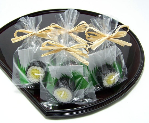 Yellow Takuan Radish Japanese Pickle Beeswax Sushi Candle Party Favor Gift Japan Faux Fake Food
