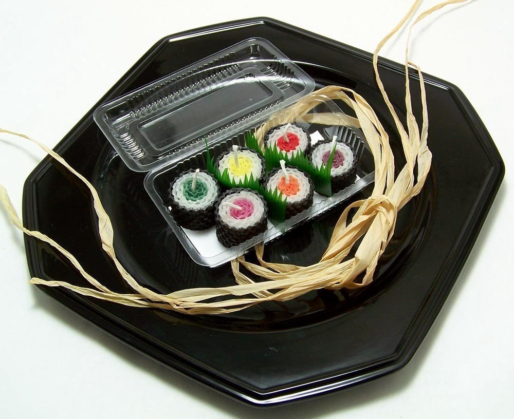 Sushi Kawaii Birthday Cake Toppers Cute Sushi Candles For